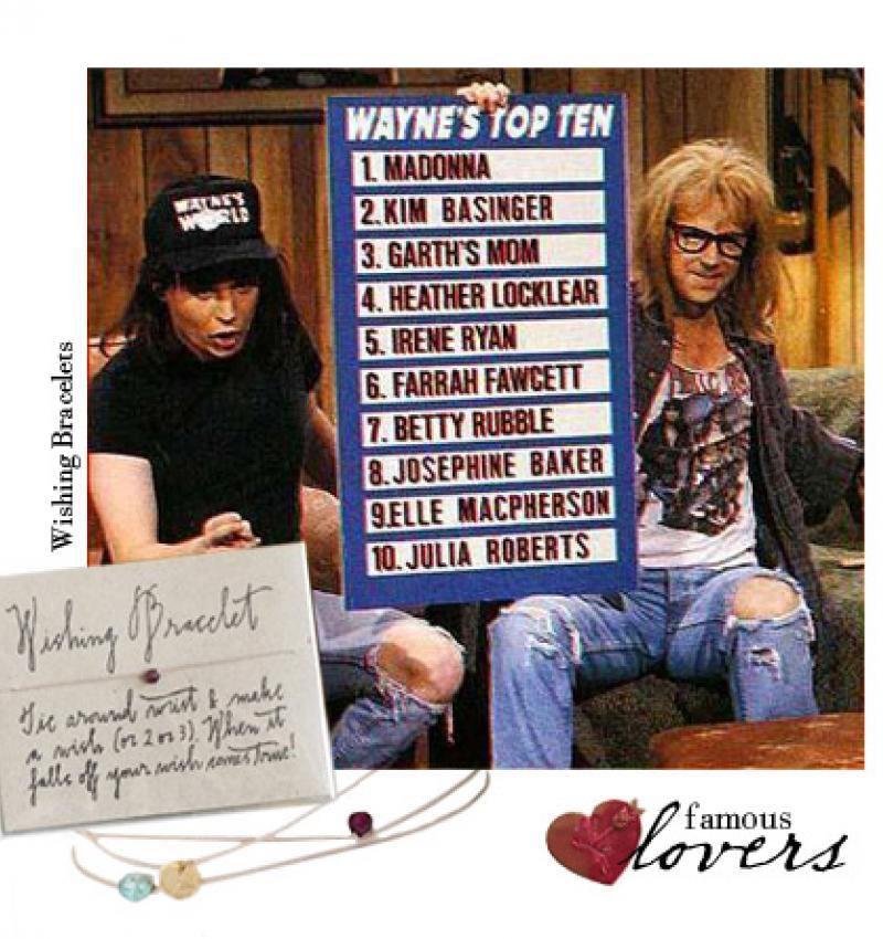 Famous Lovers: Wayne and Garth.