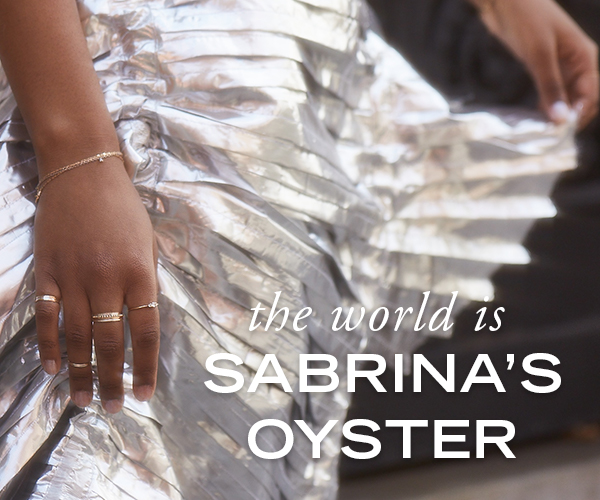 The world is Sabrina's Oyster