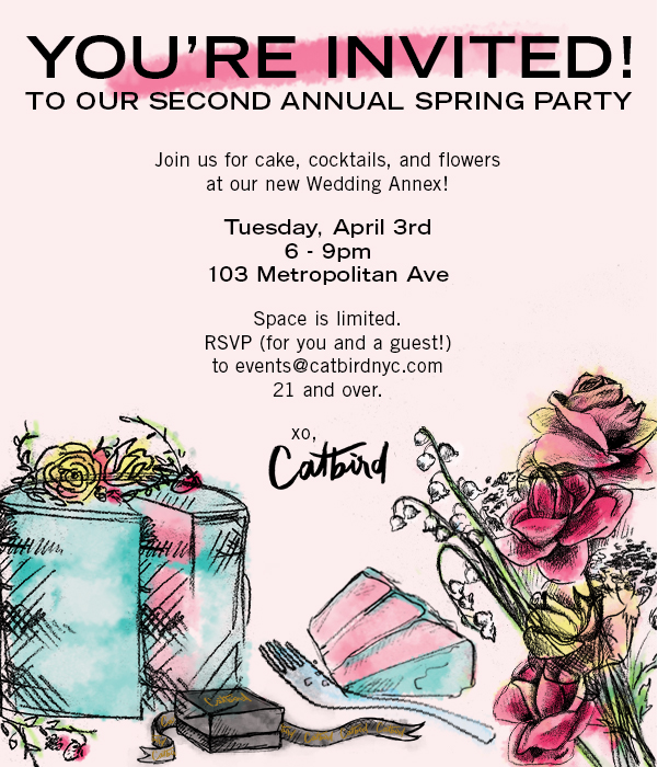 Catbird Events - Spring Party