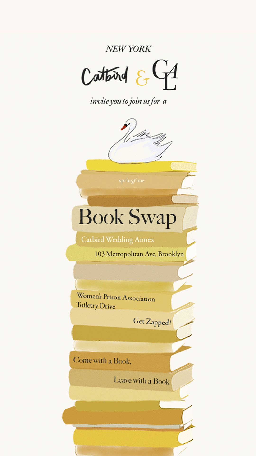 Catbird Events - Catbird x Girls at Library Book Swap 2019