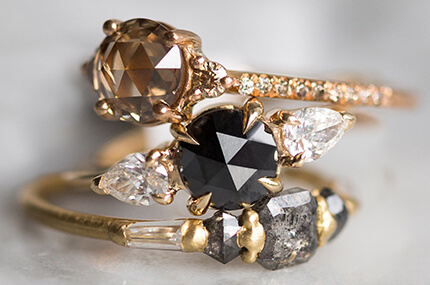 CHAMPAGNE AND BLACK DIAMONDS